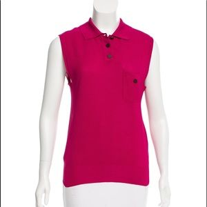 Chanel Silk collared casual top